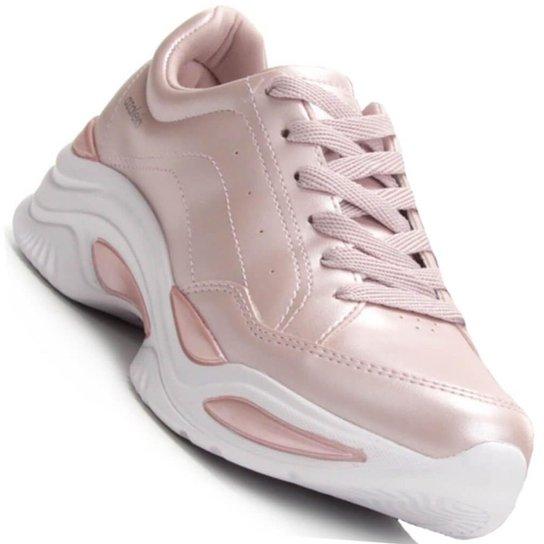 b7a557fb615 Tênis Azaleia Chunky Sneaker Feminino - Rosa - Compre Agora