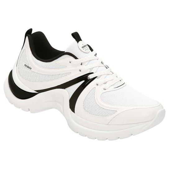 ae339fa6854 Tênis Azaleia Chunky Sneaker Sem Costura Feminino - Branco e Preto ...