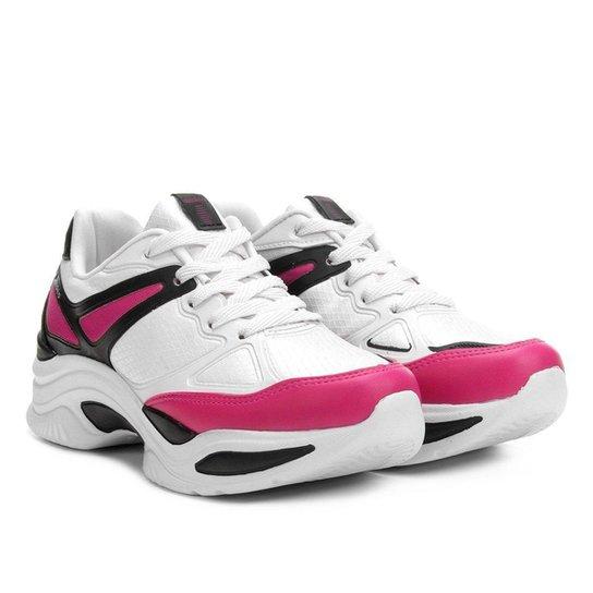 d0e5e0cc322 Tênis Azaleia Chunky Sneaker Feminino - Preto e Pink - Compre Agora ...