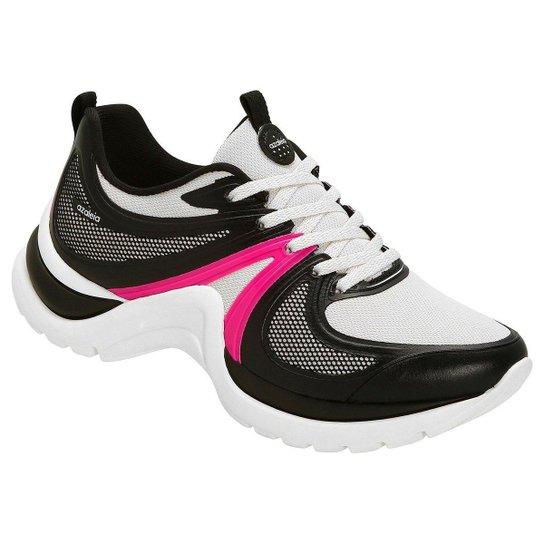 841afa7a7a0 Tênis Azaleia Chunky Sneaker Sem Costura Feminino - Preto e Pink ...