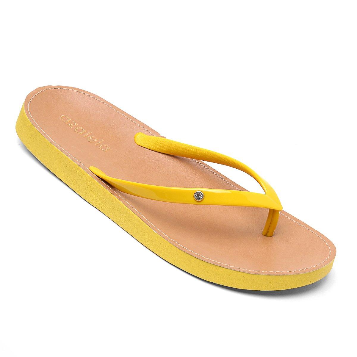 2430d5c36 Chinelo Azaleia Palmilha Natural Feminino - Amarelo