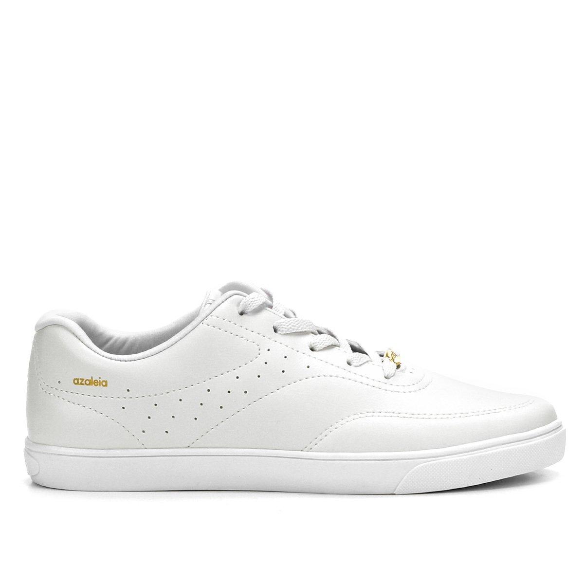 c4f4f3c5890 Tênis Azaleia Básico Perfuros Feminino - Branco - Compre Agora