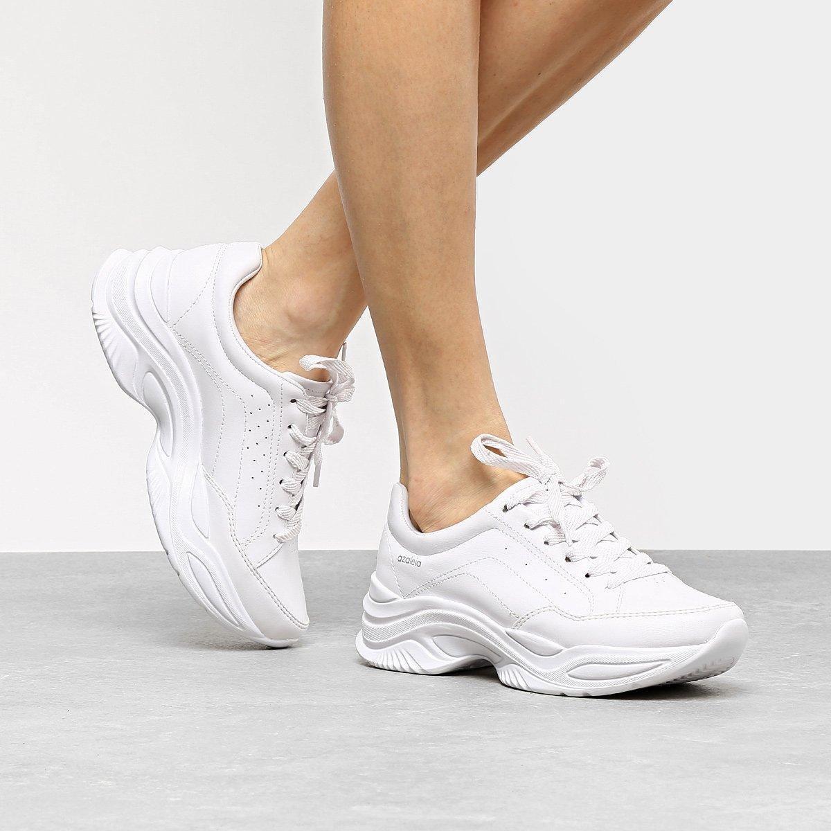 4d2a59c8f5a Tênis Azaleia Chunky Sneaker Feminino - Branco - Compre Agora
