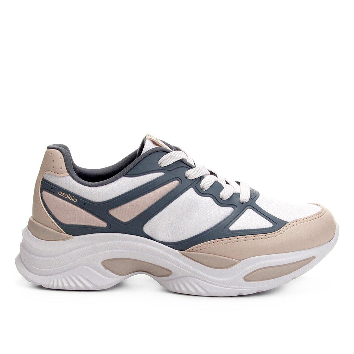 992e49549d5 Tênis Azaleia Chunky Sneaker Feminino - Rosa e Cinza - Compre Agora ...