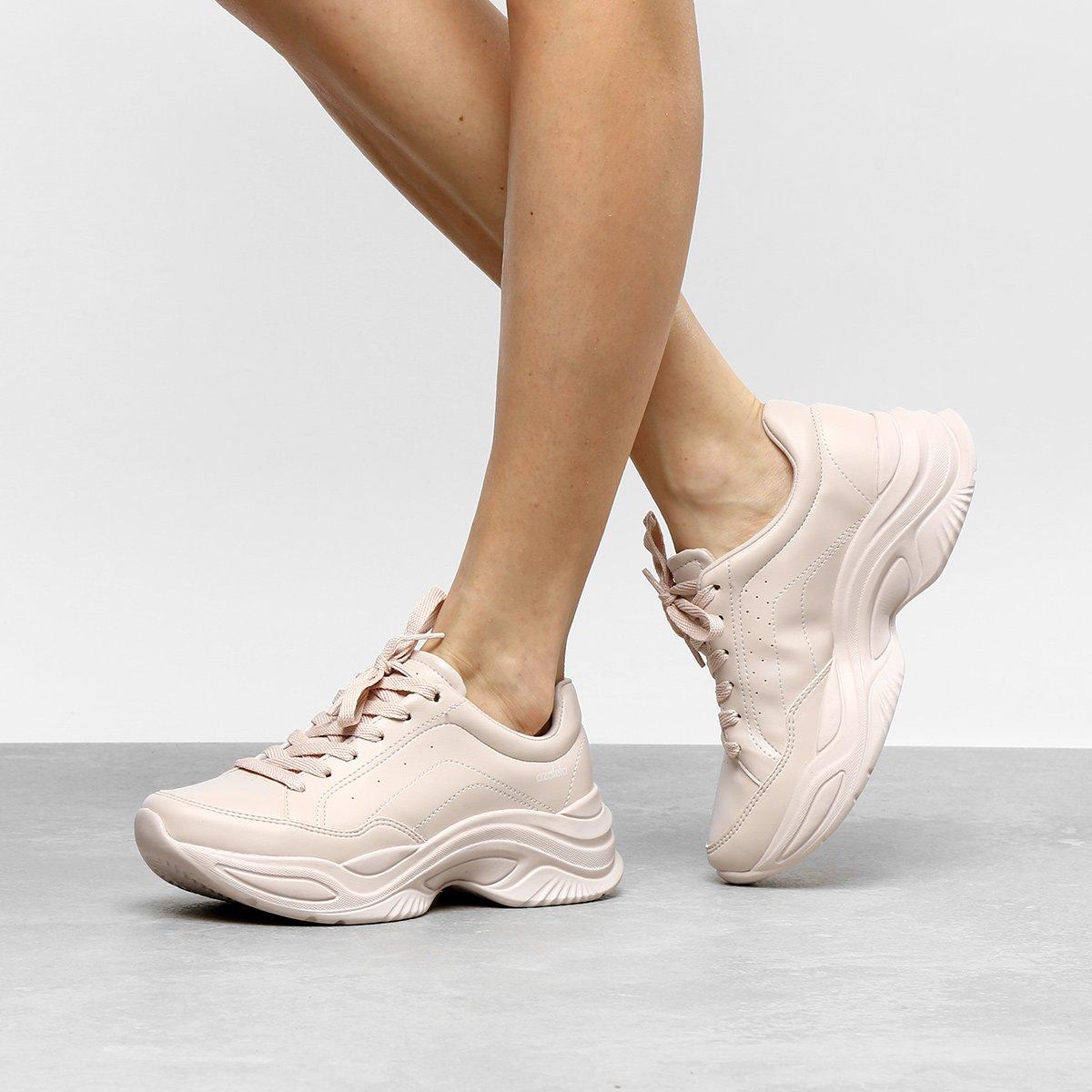 67e291aa01 Tênis Azaleia Chunky Sneaker Feminino - Rosa Claro