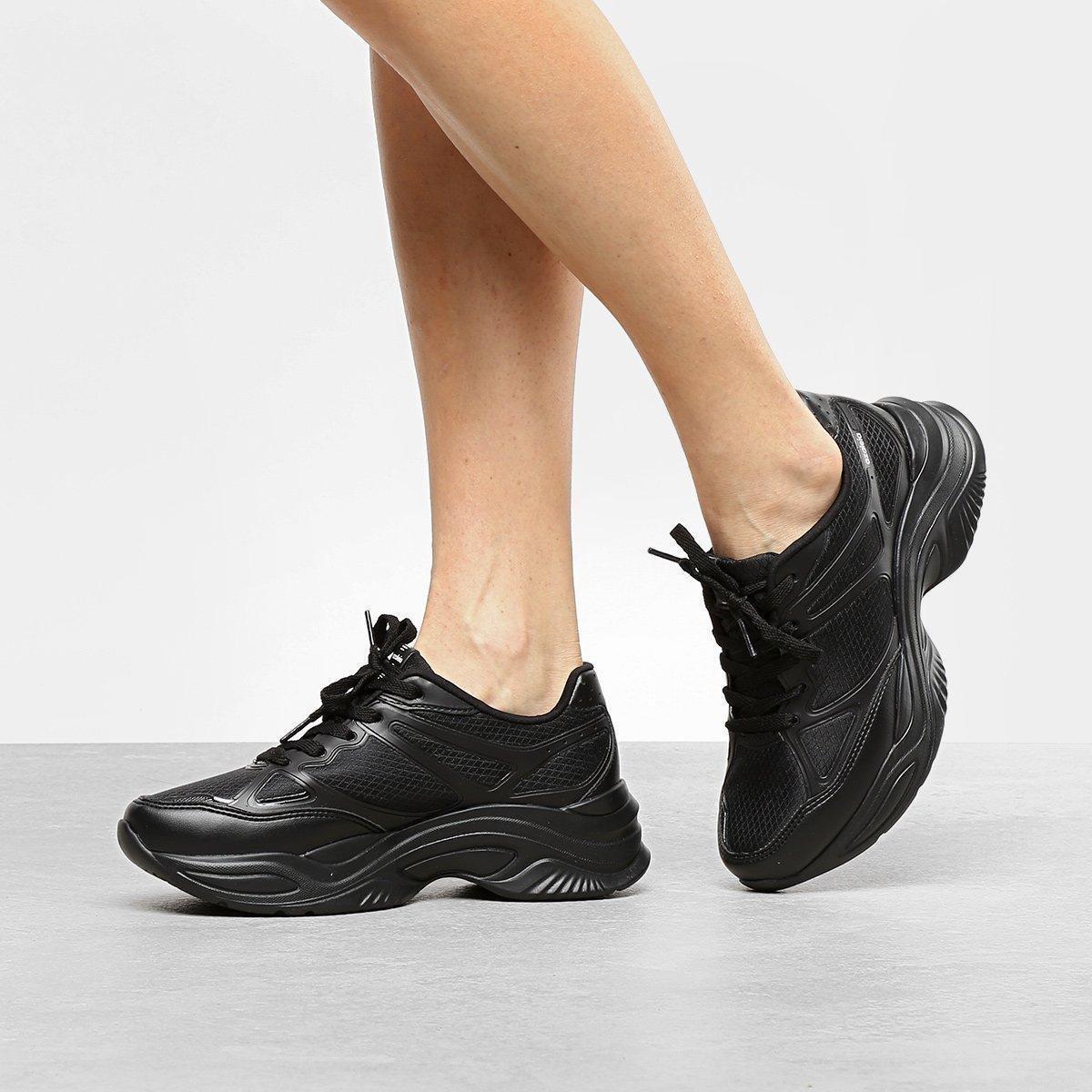 b375d5bc6ca Tênis Azaleia Chunky Sneaker Feminino - Preto e Chumbo - Compre ...